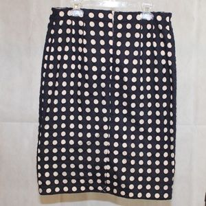 Ann Taylor Skirts - Ann Taylor Geo Eyelet Pencil Skirt (Navy)
